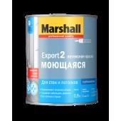 Marshall Export-2 краска водно-дисперсионная для стен и потолков глубокоматовая база BW (0,9л)