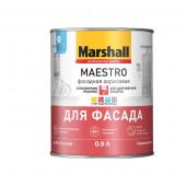 Marshall Maestro Фасадная Акриловая краска водно-дисперсионная для фасадных поверхностей глубокоматовая база BW (0,9л)