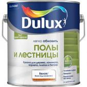 Dulux Полы и Лестница краска водно-дисперсионная для дерева, ламината, паркета, плитки и бетона полуглянцевая база BW (0,75л)