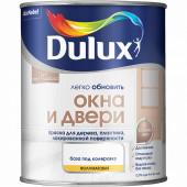 Dulux Окна и Двери краска водно-дисперсионная для дерева, пластика, лакированной поверхности полуматовая база BW (0,75л)