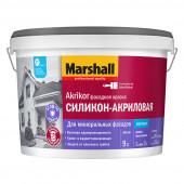 Marshall Akrikor Фасадная краска силикон-акриловая для фасадных поверхностей матовая база BС (9л)