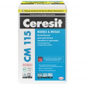 Ceresit CM 115 белый 25 кг Клей для мозаики и мрамора