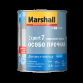 Marshall Export-7 краска водно-дисперсионная для стен и потолков матовая база BW (0,9л)
