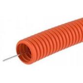 Труба гофрированная ПНД d25мм с зондом оранжевая  (50 м) ДКС