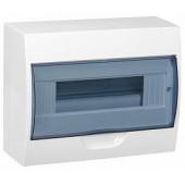 Бокс ЩРН-П-12 модулей НАВЕСНОЙ пластик белый прозрачная дверь IP41 IEK ИЕК