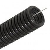 Труба гофрированная d32 ПНД черная с протяжкой (25 м)