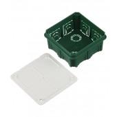Коробка распределительная (с/у) в бетон зеленая квадратная 100х100х50 Schneider