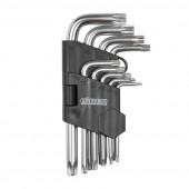 Набор инбусовых ключей TORX Biber 90506 CrV, 1.5-10 мм 9 шт.